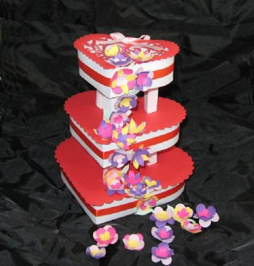 Heart 3 Tier Wedding/Celebration Cake Template